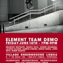 Element team demo – 16 de Junho Village Underground