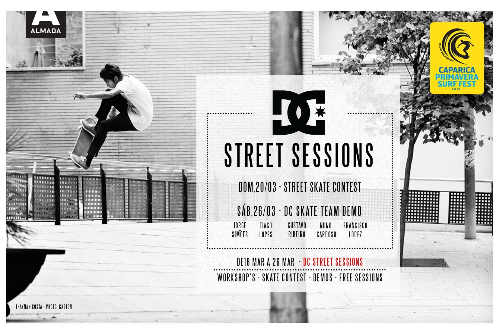DC Street Session Já Arrancou! 20 Março, Prize Money Para Best Line