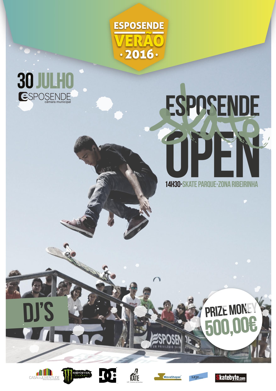 Esposende Skate Open 2016 – 30 Julho – 500€ Prize Money