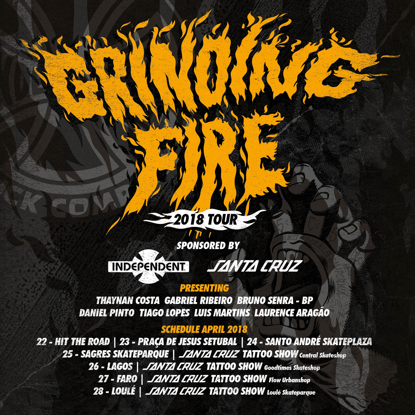 Grinding Fire tour – Independent Trucks / Santa Cruz – 22 a