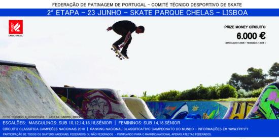 2ª Etapa Campeonato Nacional De Skate Dia 23 – Skateparque De Chelas