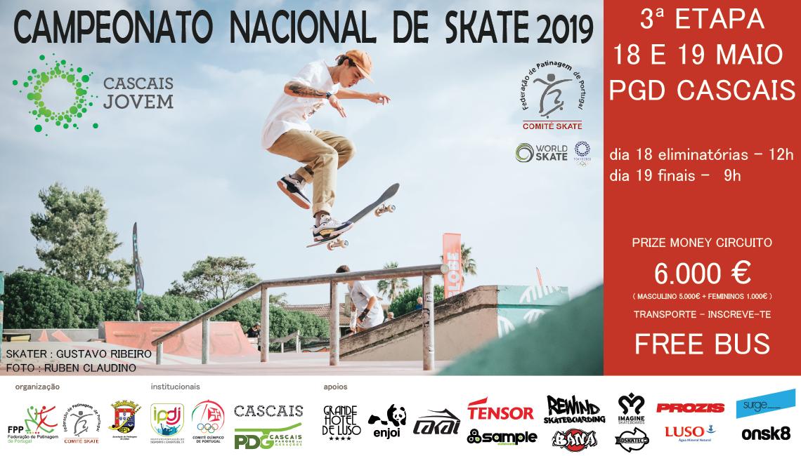 3ª Etapa Campeonato Nacional De Skate – 18 E 19 De Maio – Parque Das Gerações