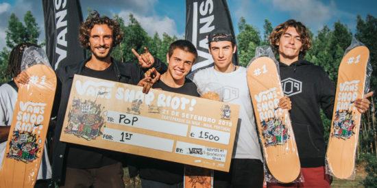 POP Skateshop Vence Vans Shop Riot 2019 E Vai A Amesterdão Representar Portugal