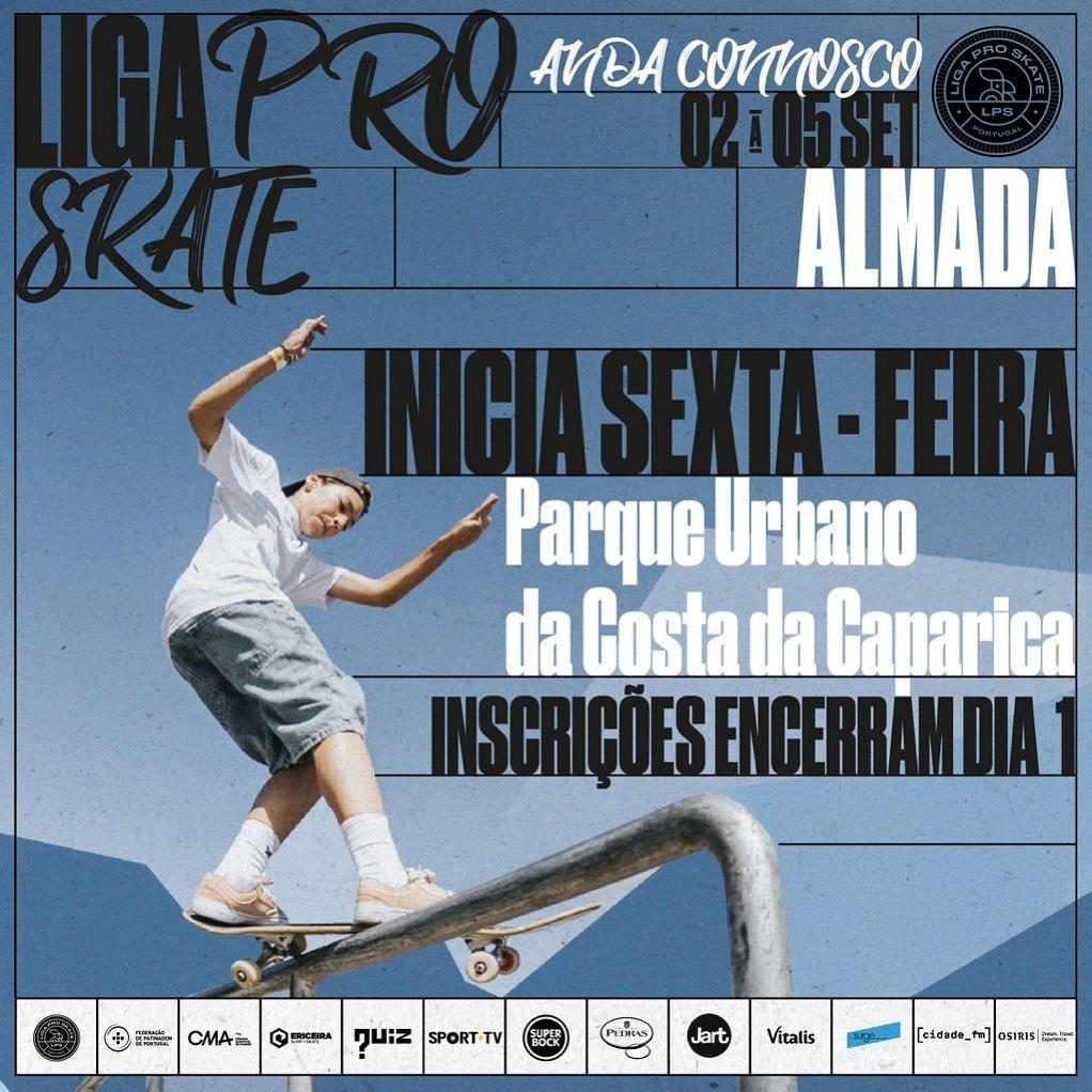 Liga Pro Skate – 2 A 5 De Setembro  – Almada – Costa Da Caparica